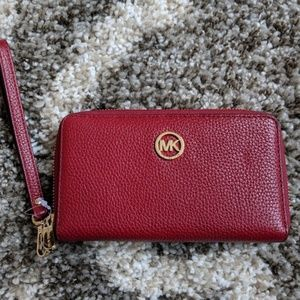 NWT Michael Kors Fulton Zip Wallet